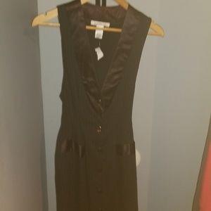 Laundry by Design Pinstripe Column Dress NWT SZ 4